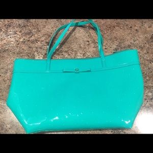 kate spade turquoise tote